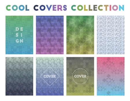 Cool Covers Collection. Actual geometric patterns. Charming background. Vector illustration.