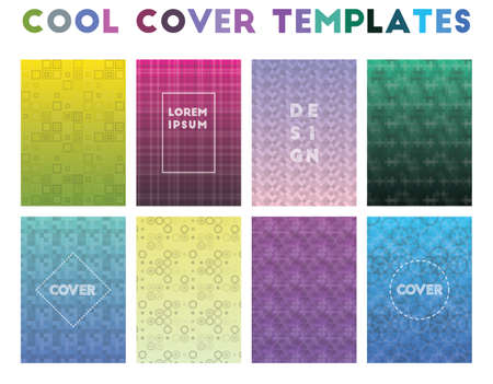 Cool Cover Templates. Alive geometric patterns. Memorable background. Vector illustration.