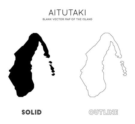 Aitutaki map. Blank vector map of the Island. Borders of Aitutaki for your infographic. Vector illustration. Illusztráció