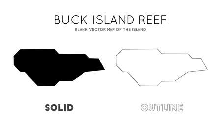Buck Island Reef map. Blank vector map of the Island. Borders of Buck Island Reef for your infographic. Vector illustration.