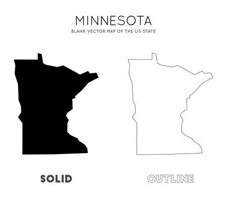 Minnesota map. Blank vector map of the Us State. Borders of Minnesota for your infographic. Vector illustration. 일러스트
