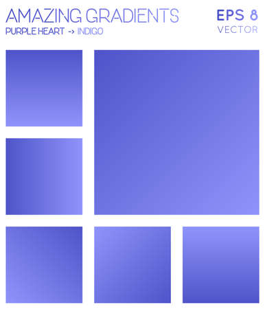 Colorful gradients in purple heart, indigo color tones. Adorable gradient background, fabulous vector illustration.