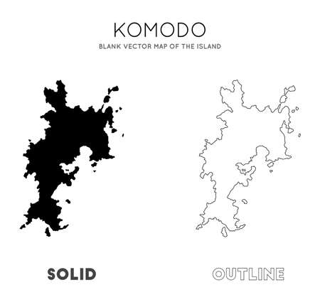 Komodo map. Blank vector map of the Island. Borders of Komodo for your infographic. Vector illustration. Illustration