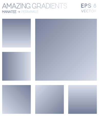 Colorful gradients in manatee, periwinkle color tones. Actual gradient background, great vector illustration.