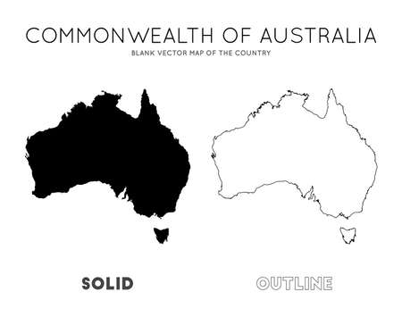 Australia map. Blank vector map of the Country. Borders of Australia for your infographic. Vector illustration.