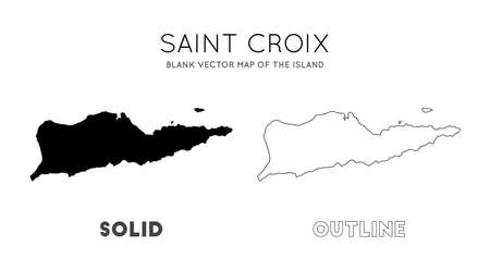 Saint Croix map. Blank vector map of the Island. Borders of Saint Croix for your infographic. Vector illustration. 向量圖像