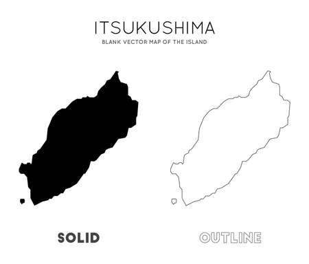 Itsukushima map. Blank vector map of the Island. Borders of Itsukushima for your infographic. Vector illustration.
