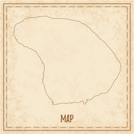 Pirate map of Lanai. Blank vector map of the Island. Vector illustration.