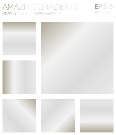 Colorful gradients in gray, white, timberwolf color tones. Adorable gradient background, classy vector illustration.