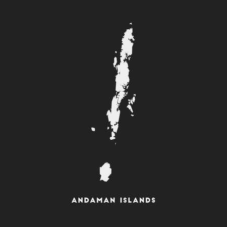 Andaman Islands icon. Island map on dark background. Stylish Andaman Islands map with island name. Vector illustration.