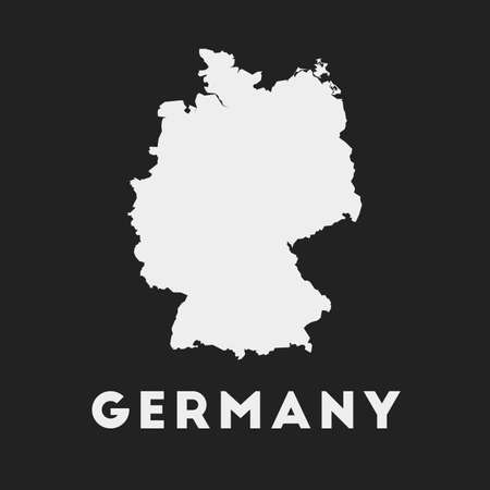 Germany icon. Country map on dark background. Stylish Germany map with country name. Vector illustration. Illusztráció
