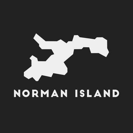 Norman Island icon. Island map on dark background. Stylish Norman Island map with island name. Vector illustration.  イラスト・ベクター素材