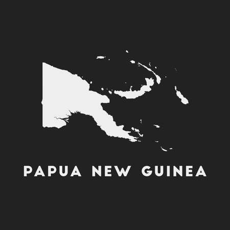 Papua New Guinea icon. Country map on dark background. Stylish Papua New Guinea map with country name. Vector illustration.