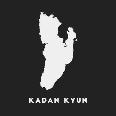 Kadan Kyun icon. Island map on dark background. Stylish Kadan Kyun map with island name. Vector illustration.  イラスト・ベクター素材