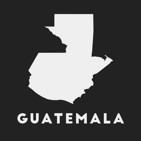 Guatemala icon. Country map on dark background. Stylish Guatemala map with country name. Vector illustration.