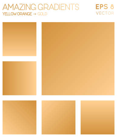 Colorful gradients in yellow orange, gold color tones. Admirable gradient background, beauteous vector illustration.