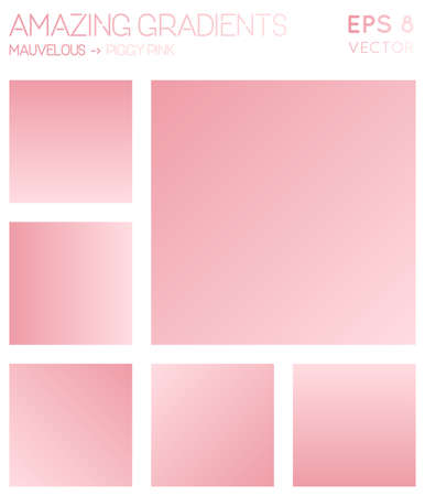 Colorful gradients in mauvelous, piggy pink color tones. Admirable gradient background, brilliant vector illustration.
