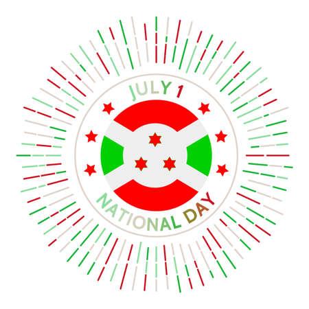 Burundi national day badge. Independence from Belgium in 1962. Celebrated on July 1. Çizim