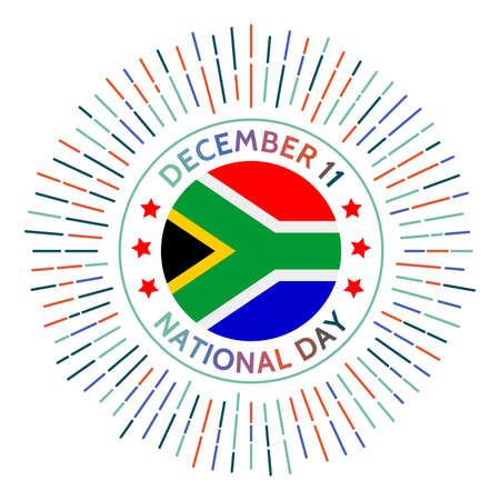 South Africa national day badge. Independence from the United Kingdom in 1931. Celebrated on December 11.