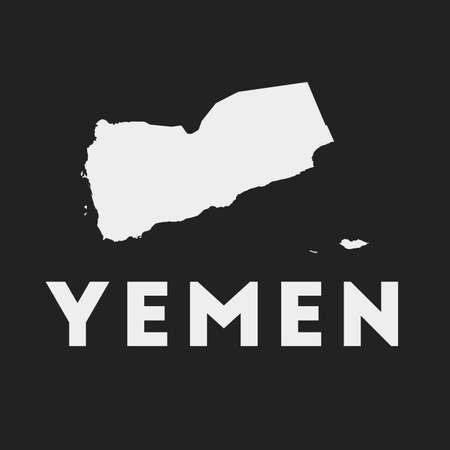 Yemen icon. Country map on dark background. Stylish Yemen map with country name. Vector illustration.