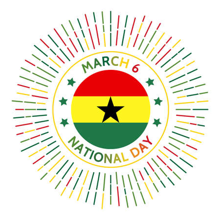 Ghana national day badge. Independence from the United Kingdom in 1957. Celebrated on March 6.