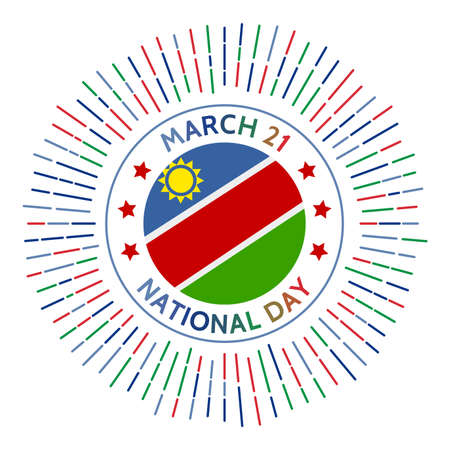 Namibia national day badge. Independence from South Africa mandated in 1990. Celebrated on March 21.