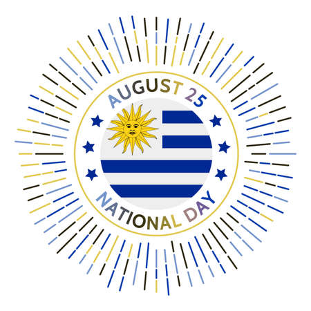 Uruguay national day badge. Declaration of independence from the Empire of Brazil. Celebrated on August 25.