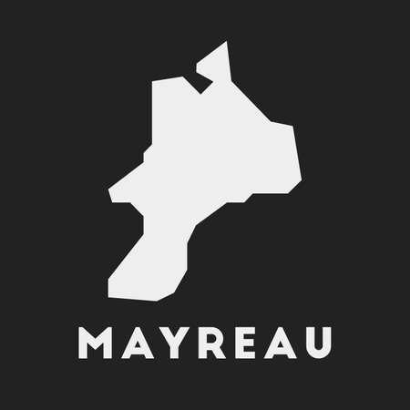 Mayreau icon. Island map on dark background. Stylish Mayreau map with island name. Vector illustration.