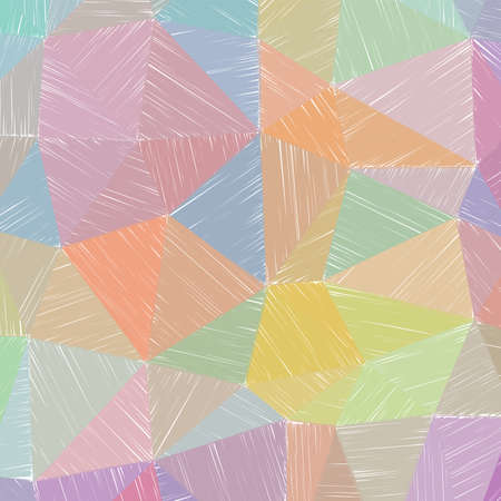 Hand-drawn pencil background. Marker hatching background. Admirable pencil sketch with colorful strokes. Magnificent vector illustration. Stock Illustratie