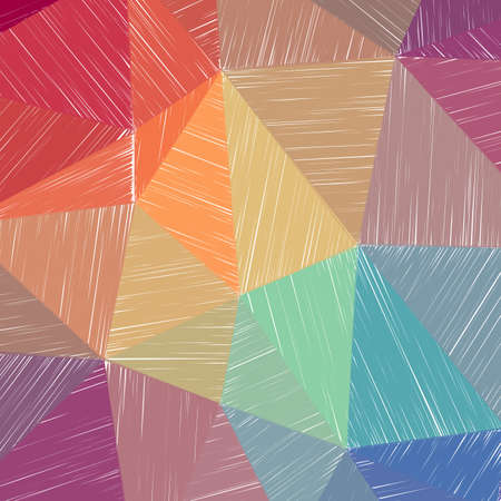 Hand-drawn pencil background. Marker hatching background. Alluring pencil sketch with colorful strokes. Alive vector illustration.