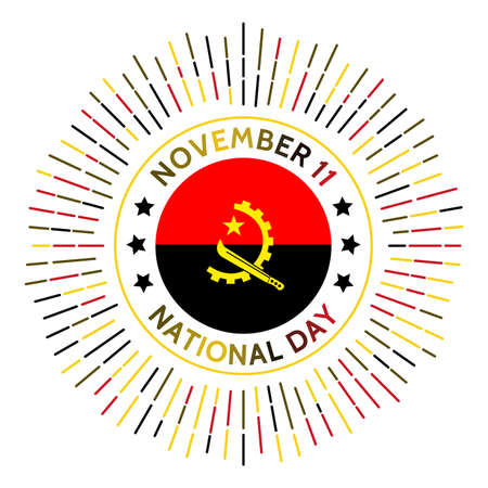 Angola national day badge. Independence from Portugal in 1975. Celebrated on November 11.