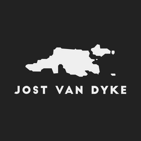 Jost Van Dyke icon. Island map on dark background. Stylish Jost Van Dyke map with island name. Vector illustration.