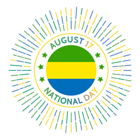 Gabon national day badge. Independence from France in 1960. Celebrated on August 17.