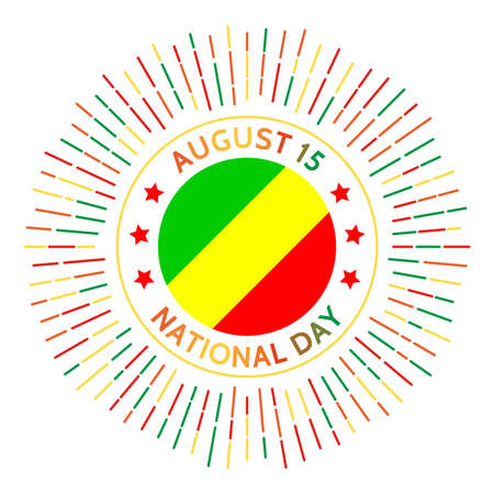 Congo national day badge. Independence from France in 1960. Celebrated on August 15.