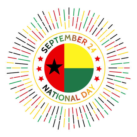 Guinea-Bissau national day badge. Declaration of independence from Portugal in 1973. Celebrated on September 24.