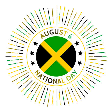 Jamaica national day badge. Independence from the United Kingdom in 1962. Celebrated on August 6.