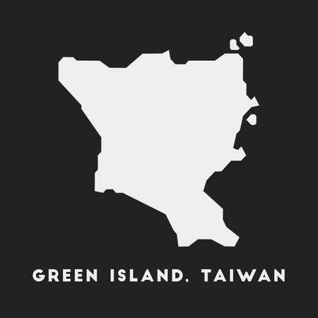 Green Island, Taiwan icon. Island map on dark background. Stylish Green Island, Taiwan map with island name. Vector illustration. 일러스트