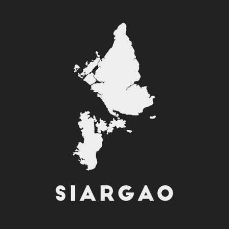 Siargao icon. Island map on dark background. Stylish Siargao map with island name. Vector illustration. 일러스트