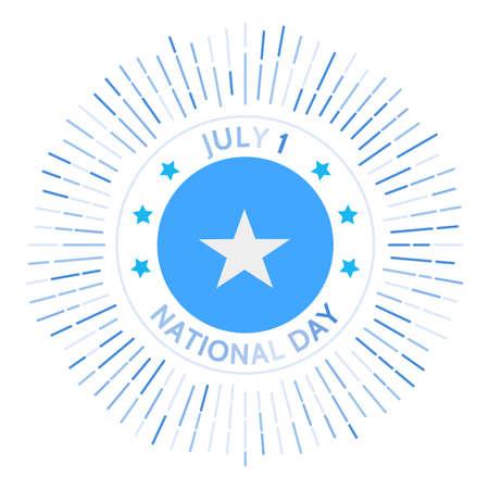 Somalia national day badge. Union of the Trust Territory of Somalia and British Somaliland to form the Somali Republic. Celebrated on July 1. Illusztráció
