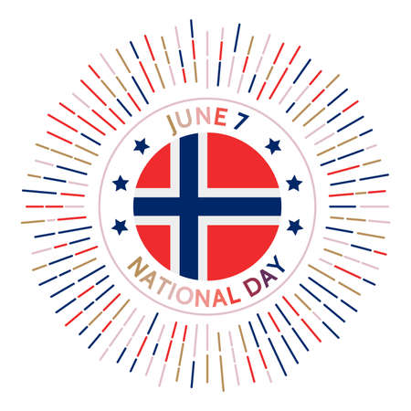 Norway national day badge. Independence from Sweden in 1905. Celebrated on June 7.