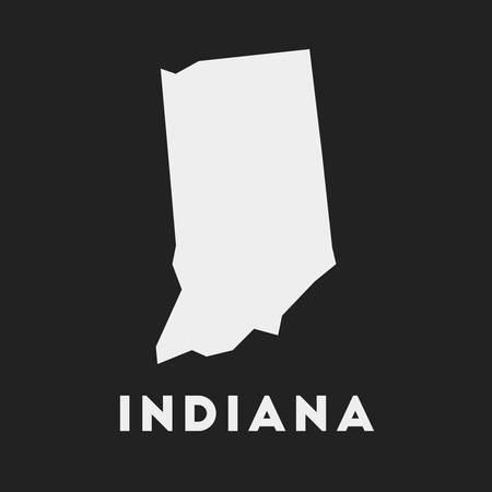 Indiana icon. Us state map on dark background. Stylish Indiana map with us state name. Vector illustration.
