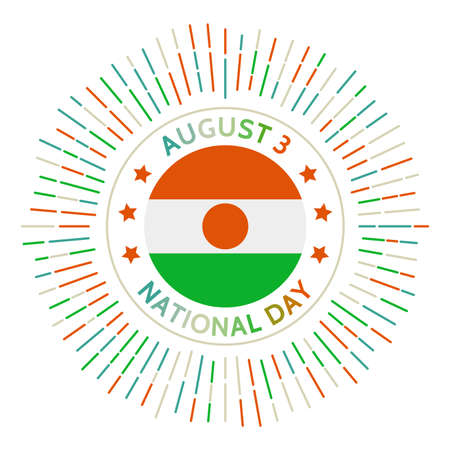Niger national day badge. Independence from France in 1960. Celebrated on August 3.