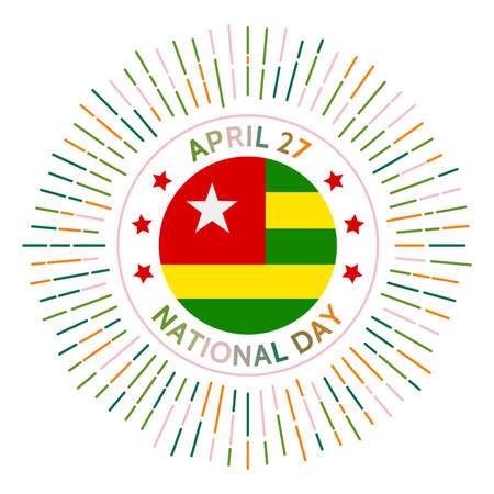 Togo national day badge. Independence from France in 1960. Celebrated on April 27.