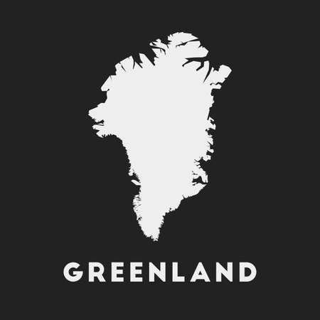 Greenland icon. Country map on dark background. Stylish Greenland map with country name. Vector illustration.