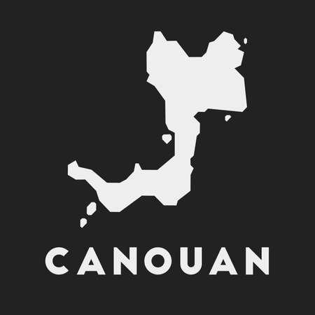 Canouan icon. Island map on dark background. Stylish Canouan map with island name. Vector illustration. Illustration