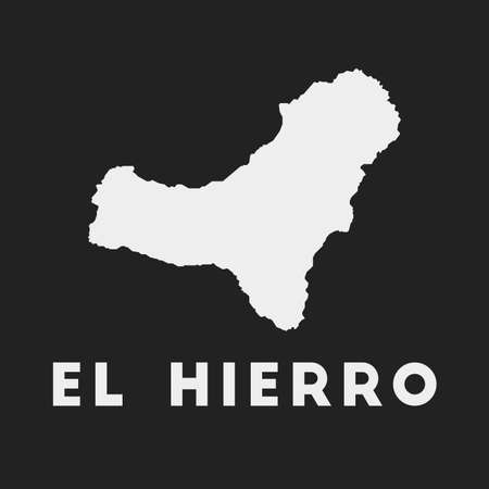El Hierro icon. Island map on dark background. Stylish El Hierro map with island name. Vector illustration.