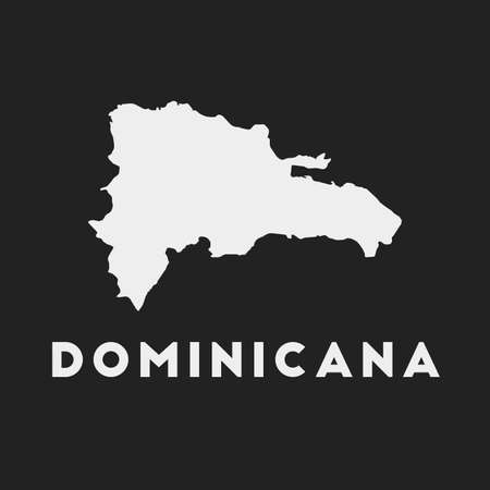 Dominicana icon. Country map on dark background. Stylish Dominicana map with country name. Vector illustration. Ilustração