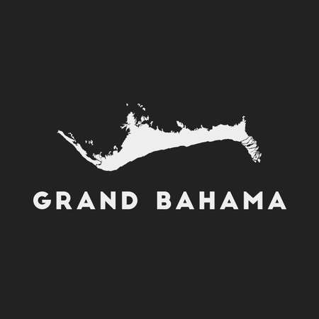 Grand Bahama icon. Island map on dark background. Stylish Grand Bahama map with island name. Vector illustration.
