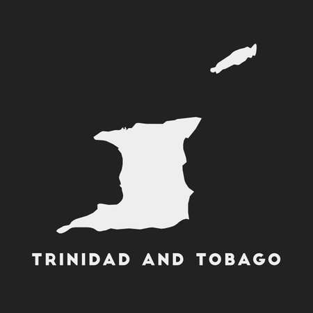 Trinidad and Tobago icon. Country map on dark background. Stylish Trinidad and Tobago map with country name. Vector illustration. Illustration
