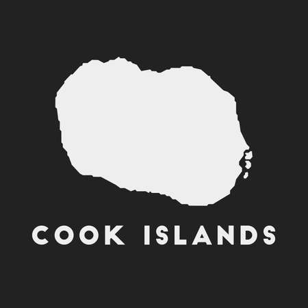Cook Islands icon. Island map on dark background. Stylish Cook Islands map with island name. Vector illustration. 向量圖像